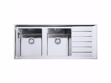 2 bowl stainless steel sink with drainer NPX 621