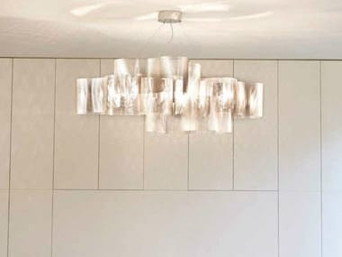 Stainless steel pendant lamp NUAGE 27A