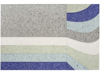 Handmade rectangular synthetic fibre rug NUANCES NAIAD | Rug