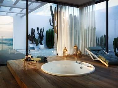 Round acrylic bathtub NUBEA ROUND