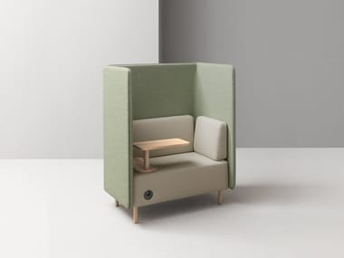 High-back fabric armchair NUCLEO | Armchair
