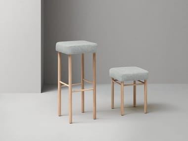 Office stool with footrest NUCLEO | Office stool