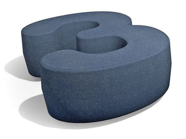 Pouf in tessuto NUMBERS