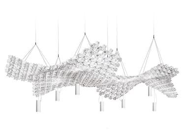 LED Opalflex® pendant lamp NUVEM