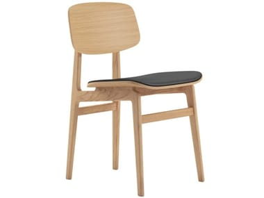 Oak chair with integrated cushion NY11 | Chair with integrated cushion
