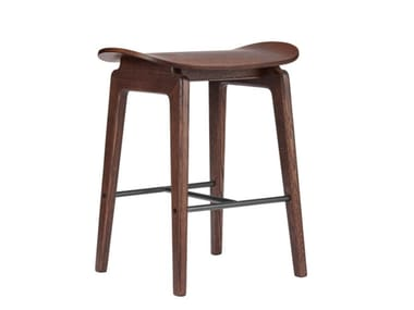 Low oak stool NY11 | Low stool