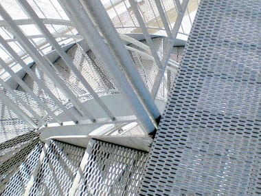 Expanded metal Suspended walkway / Grille Non-slip grating