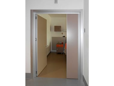 Contemporary style hinged door Normal Community