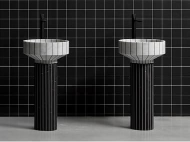 Freestanding marble washbasin O24 | Washbasin