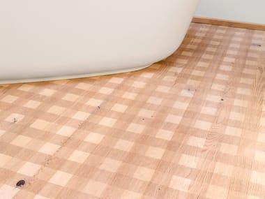 Oak wall/floor tiles OAK COUNTRY CARVING CHECK I - WHITE