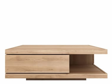 Solid wood coffee table OAK FLAT | Coffee table