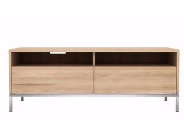 Low oak TV cabinet OAK LIGNA   Oak TV cabinet