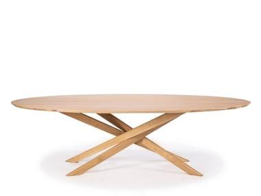 Oval oak dining table OAK MIKADO   Oval table