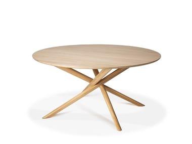 Round oak dining table OAK MIKADO   Round table