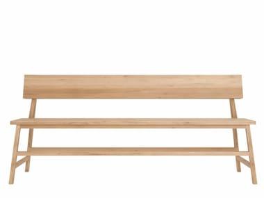 Oak bench with back OAK N3 | Bench