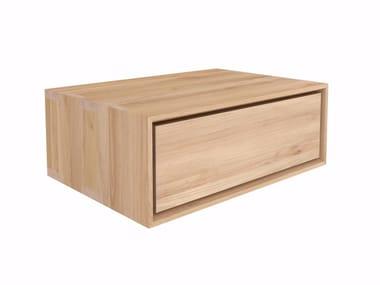 Wall-mounted oak bedside table OAK NORDIC II | Bedside table