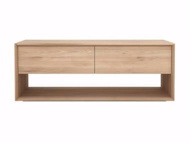 Low solid wood TV cabinet OAK NORDIC | TV cabinet