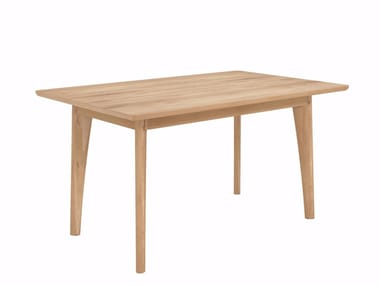 Extending rectangular oak dining table OAK OSSO | Extending table