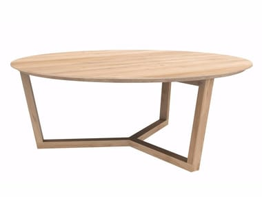 Round oak coffee table OAK TRIPOD TABLE | Coffee table