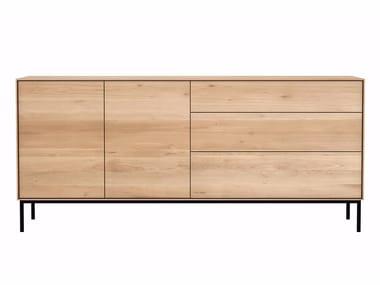 Oak sideboard with doors and drawers OAK WHITEBIRD   Oak sideboard