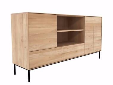 Oak sideboard with doors and drawers OAK WHITEBIRD | Sideboard