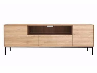 Oak TV cabinet with drawers OAK WHITEBIRD | TV cabinet