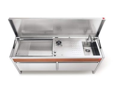 Cuisine d'extérieur à gaz en acier inoxydable OASI C205.C5