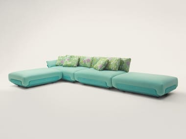 Fabric garden sofa with removable cover OASI
