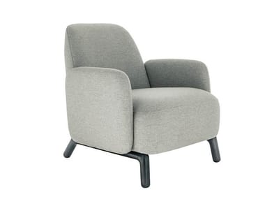 Fabric armchair with armrests OASIS | Armchair