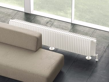 Modular floor-standing aluminium decorative radiator OBLIQUO | Floor-standing decorative radiator