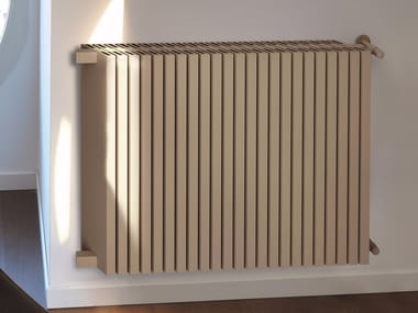Modular wall-mounted aluminium decorative radiator OBLIQUO | Wall-mounted decorative radiator