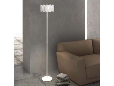 Lámpara de pie LED con luz directa-indirecta con brazo articulado OBOLO 6496