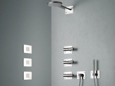 Stainless steel side shower with anti-lime system OCEAN 30 44