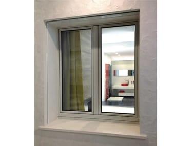 Aluminium and wood casement window OCEANO | Casement window