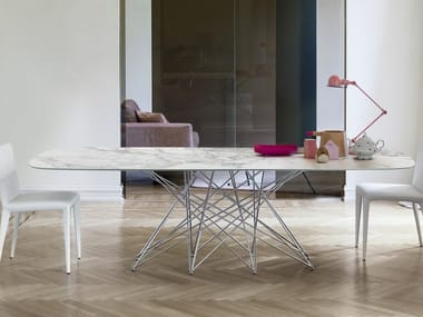 Rectangular ceramic dining table OCTA | Ceramic table