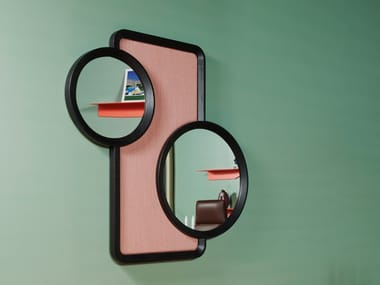 Framed wall-mounted ash mirror OCULUS