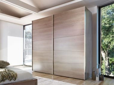Sectional wardrobe with sliding doors ODEA | Wardrobe with sliding doors