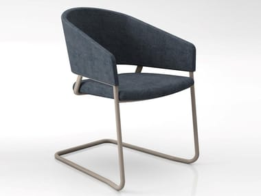 Cantilever fabric chair ODEI | Cantilever chair