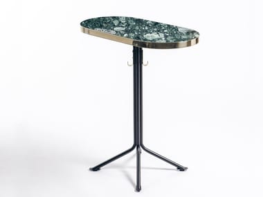 Marble table with 4-star base ODEON | Oval table