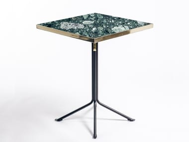 Marble table with 4-star base ODEON | Square table