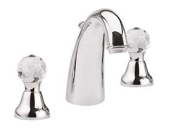 3 hole countertop washbasin tap ODESSA CRYSTAL - F3912A/S
