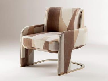 Cantilever fabric armchair with armrests ODISSEIA   Armchair