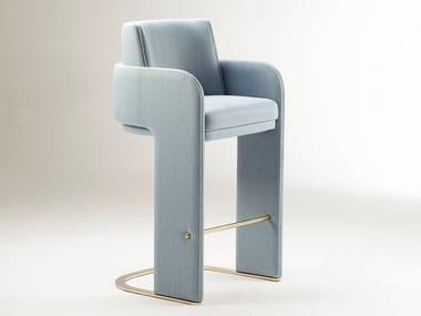 Fabric barstool with armrests ODISSEIA   Barstool