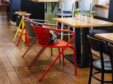 Metal restaurant chair with armrests ODS 0064500 | Chair