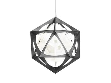 LED polycarbonate and aluminium pendant lamp OE QUASI LIGHT