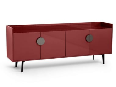 Lacquered MDF sideboard with doors OFELIA | Sideboard