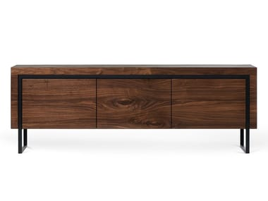 Solid wood sideboard with drawers OFFSET   Sideboard