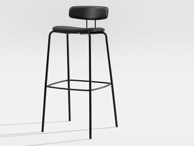 Tabouret haut de bar en bois avec coussin intégré OKITO PLY BAR | Tabouret avec coussin intégré