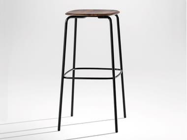 Steel and wood stool OKITO | Stool