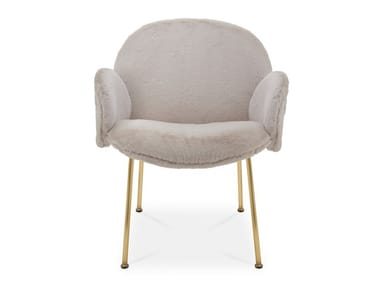 Fabric easy chair with removable cover with armrests OLA | Easy chair with armrests